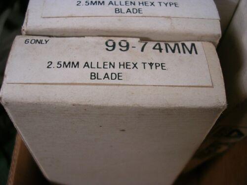 2 XCELITE 99 SERIES ALLEN HEX TYPE BLADE LOT OF MODEL 99-22 5//64 NOS BIT NEW