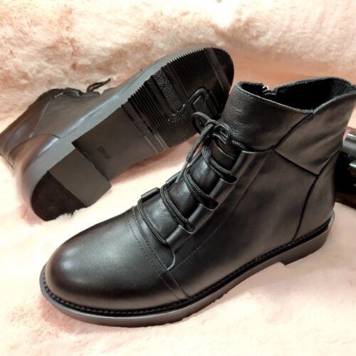 Damen Boots Winter Schuhe Lace weiche Up Ankle Comfort Flat Leder Damenmode qgPrpq71Z