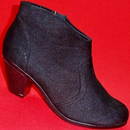 Women's SODA Heels PROSA Black Fashion Dress Ankle Zipper Heels SODA Boots Shoes New dee499