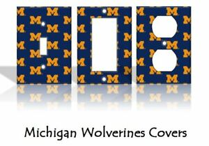 Details About Michigan Wolverines Light Switch Covers Football Ncaa Home Decor Outlet