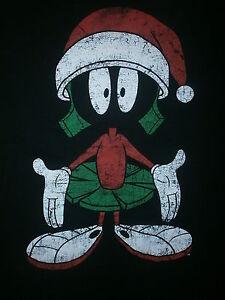 marvin martian santa claus t shirt christmas hat looney tunes bugs