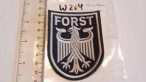 w204 je3,95 Forst Armabzeichen Maschinengestickt auf grün kleine Form 2 Stück