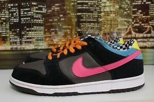 free shipping 0ac39 0427a Details about Nike Sb Dunk Low 720 Charcoal Bright Pink 2008 Skateboarding  Sneakers Size 12