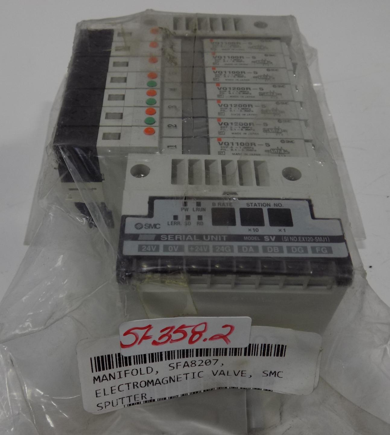 SMC SERIAL UNIT MODEL-SV SFA8207   EX120-SMJ1 NNB