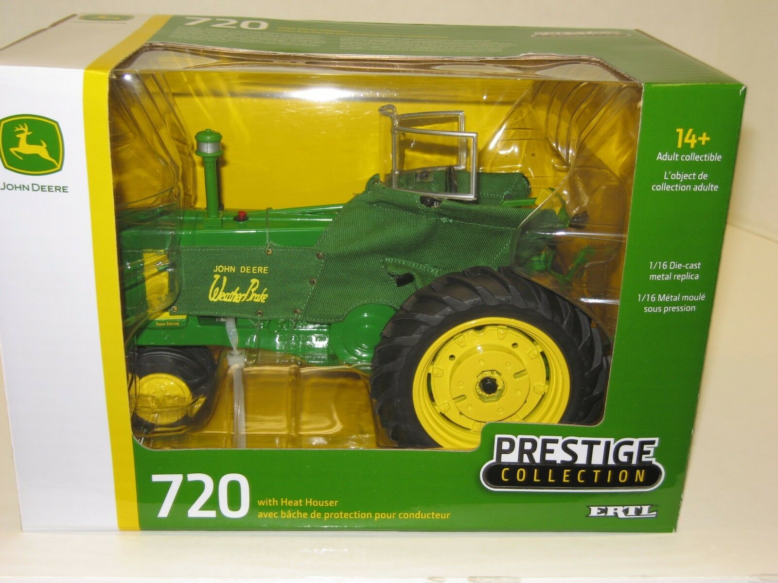 1 16 JOHN DEERE 720 w HEAT HOUSER PRESTIGE COLLECTION NIB free shipping