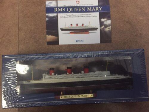 certificato di autenticità ATLAS Editions-RMS Queen Mary Luxury liner 1:1250