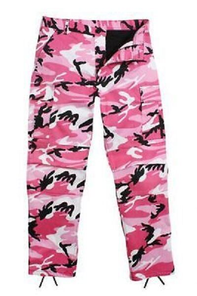 Pink Camo Ultra Force Bdu Camouflage Pants Trousers Trousers Medium Regular