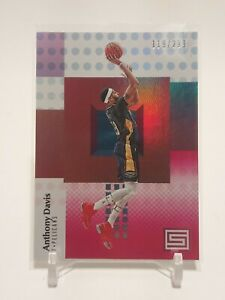 2017-18 Panini Status Anthony Davis Red Parallel 119/299 SP Pelicans Lakers