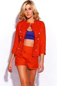 Double-breasted-boucle-jacket-by-Alythea-orange-Size-L-Jacket-Only