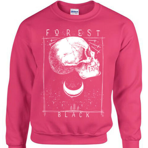 Forêt Noir Pull pour Hommes Femmes Tête de Mort Gothique Moon Stars Tricot