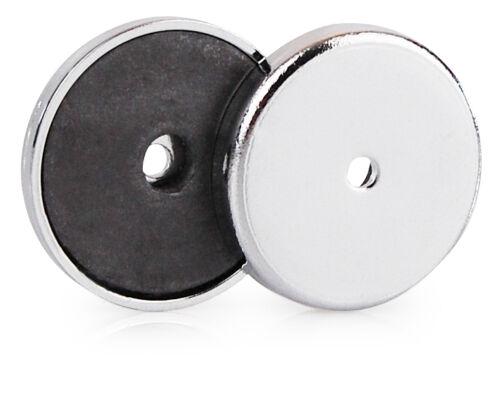 Magnet Scheibe 2 Runde Magnete verchromt von Tifler 31 x 4 mm 2 kg