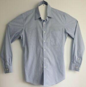 Uni-Qlo-Men-039-s-Long-Sleeve-Check-Shirt-Size-M