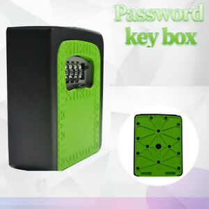 New 4 Digit Wall Mounted Combination Lock Key Safe Box Storage Weather Resistant