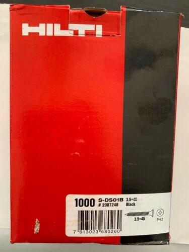 Countersunk Hilti Self Tapping 2g Screw Tapper Black 3.5mm x 45mm