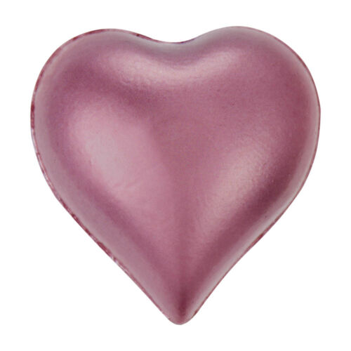 SELF ADHESIVE 12mm Flat Back Stick On Pearl Heart Gems x 24 VARIOUS COLOURS