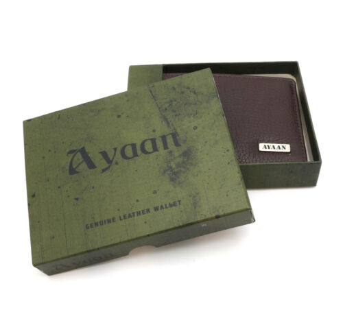 Bifold Brown Genuine Leather AYAAN Wallet Inner Flap Card Windows /& Outer Pocket