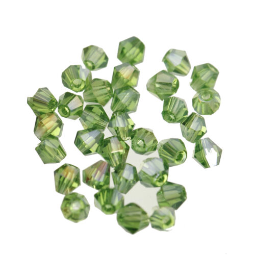 200pcs bicone crystal glass  4mm loose spacer Beads Wholesale