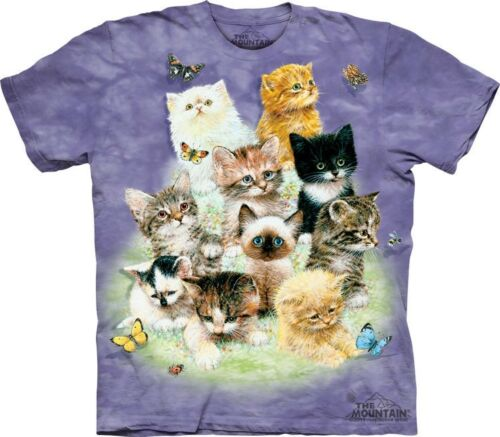 Cute Cats Feline Butterflies Sizes S-5XL NEW 10 Kittens T-Shirt by The Mountain