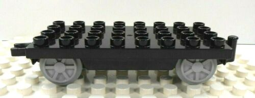 Lego Duplo Item Train Car Base 4x8 w// train wheels black w// gray