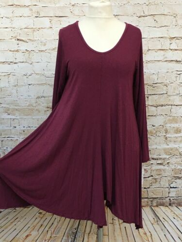 Moonshine Fashion Basic Tunika Shirt Lagenlook Übergröße 44 46 48 50 52 Neu rosa
