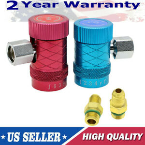 Refrigerant Adapter 2PCS R1234yf Connector Air Conditioning Replacement