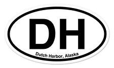 """DH Dutch Harbor Alaska Oval car window bumper sticker decal 5"""" x 3"""""""