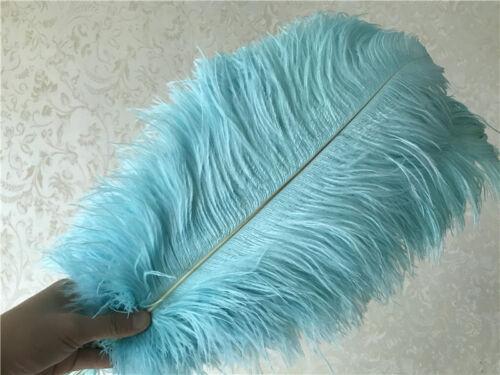 15-60 cm 6 colors Wholesale 10-100pcs rare color ostrich feathers 6-24 inch