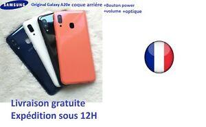 Coque arriere cache batterie pour Samsung Galaxy A20E bouton+ volume + optique