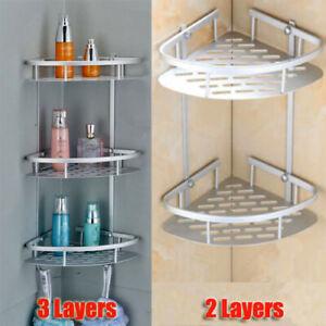 Bathroom Shower Wall Mount Rack Storage Holder Shelf Corner Organizer 3 Layers