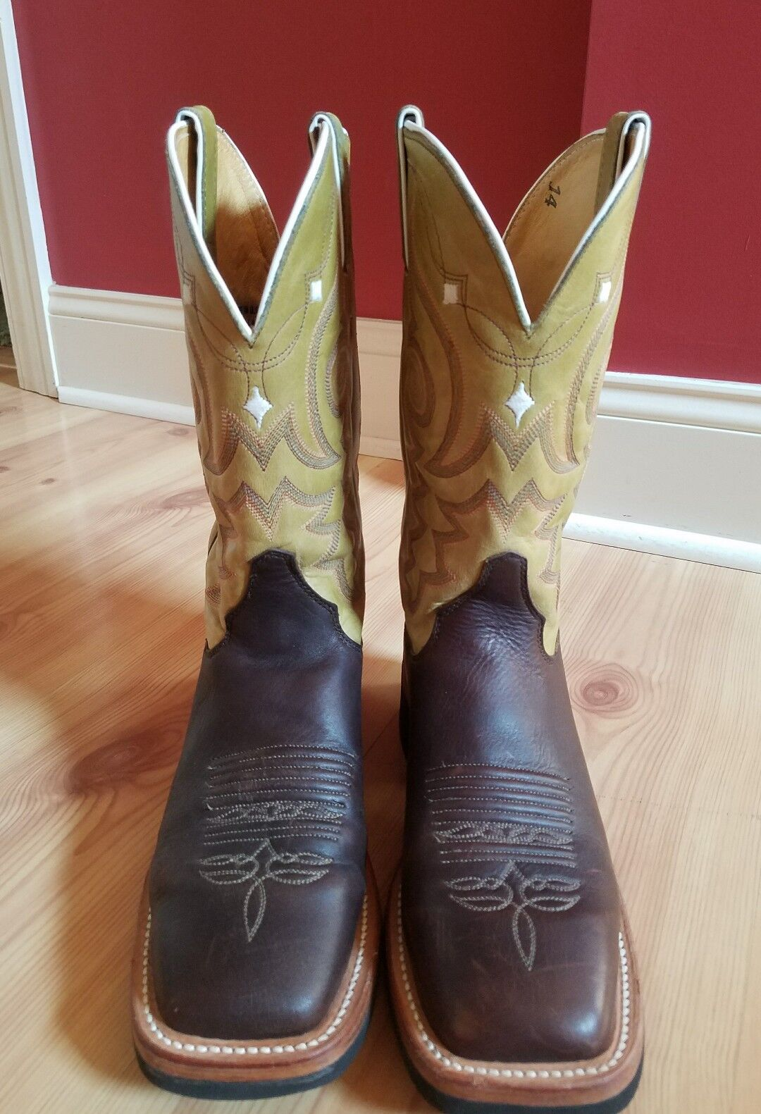 LADIES JUSTIN AQHA Q-CREPE J-FLEX bottes WALNUT WILLOW UPPER L7010 Taille 7.5 B