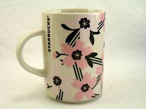 Starbucks-Sakura-Cherry-Blossom-Coffee-Cup-Mug-2017-12-oz-Pink-and-White
