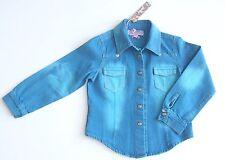 BNWT ROBERTO CAVELLI Angel Wings Cotton Denim Style Blue Jacket Top Shirt Age 4