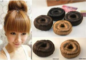 Haargummis Kunsthaar Dutt Haarteil Frisurenhilfe Haarhilfe