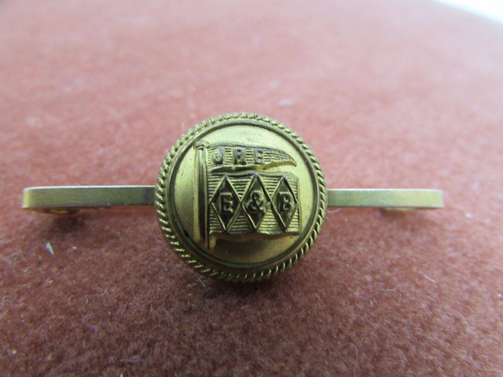VINTAGE Sweetheart London ARTIGLIERIA jre e&b pulsante pulsante pulsante su una barra di oro 9ct Spilla fa34fe