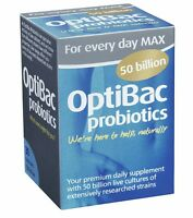 2x Optibac Probiotics For Every Day Max 50 Billion - 30 Capsules