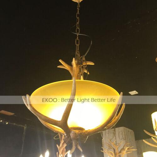Rustic village Deer Antler Chandelier Pendant Light Vintage European Industrial