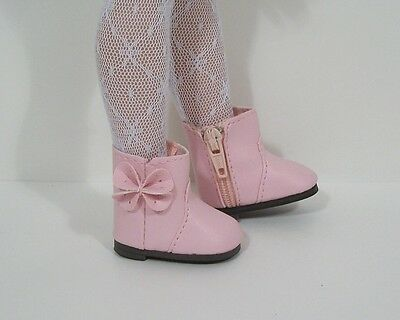 """LT PINK Flower CF Ankle Boots Doll Shoes For Tonner 14/"""" Betsy McCall Debs"""