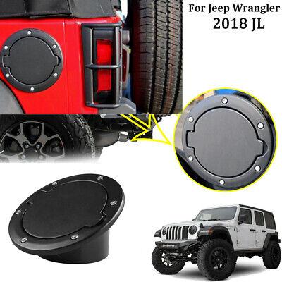 Fuel Filler Door Gas Tank Cap Lid Cover For 07 Jeep Wrangler JK Unlimited Black