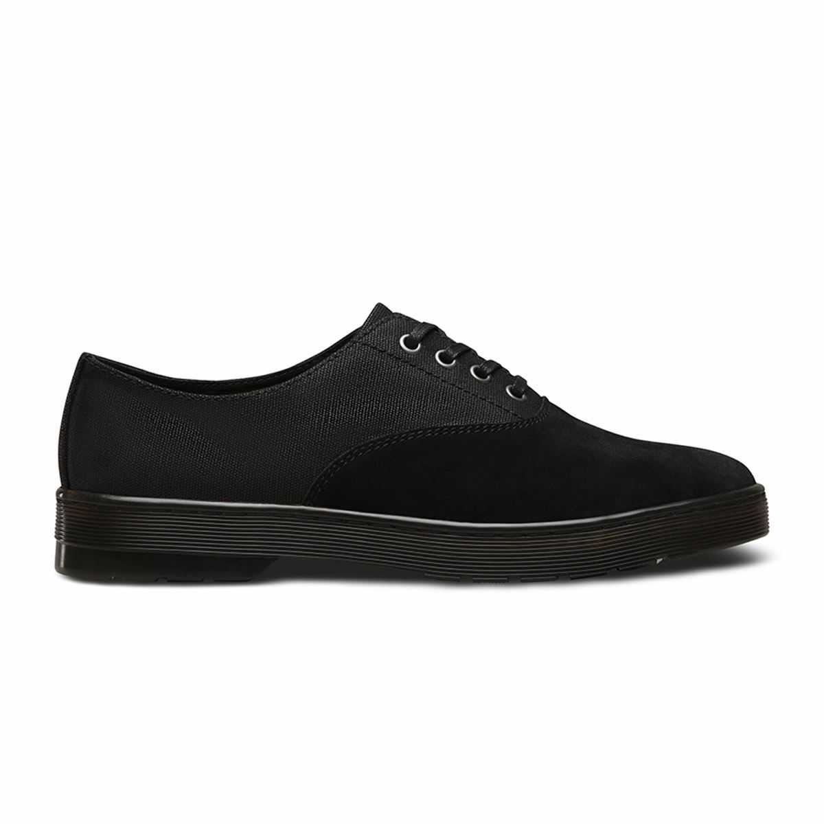 Dr.Martens Lakewood Waxy Canvas Black Mens Shoes