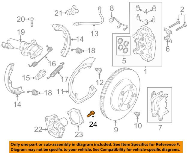PORSCHE OEM 17-18 Panamera Brake-Front-Hub Bolt N10806301