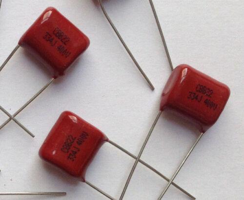 10x Polypropylen Folienkondensator 0,33µF 400V CBB22 330nF Film Kondensator 334J