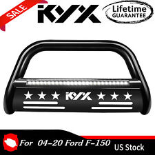 3 Bull Bar Push Brush Bumper Grille Guard With Led Light For 04 20 Ford F 150