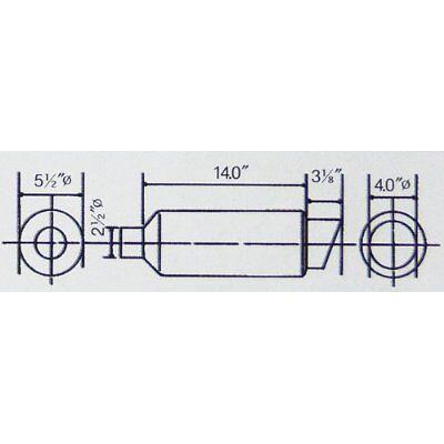 OBX Universal Round Howitzer HF03 Style Muffler w// Slant Cut Tip