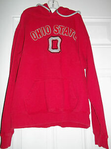 The-Ohio-State-University-Buckeyes-Youth-Junior-Sz-L-Cotton-Hoodie-Front-Pocket