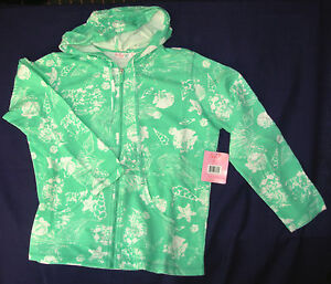SUN-BAY-P-L-Hoodie-Zippered-Jacket-Cotton-Long-Sleeve-Turquoise-sealife-Petite-L