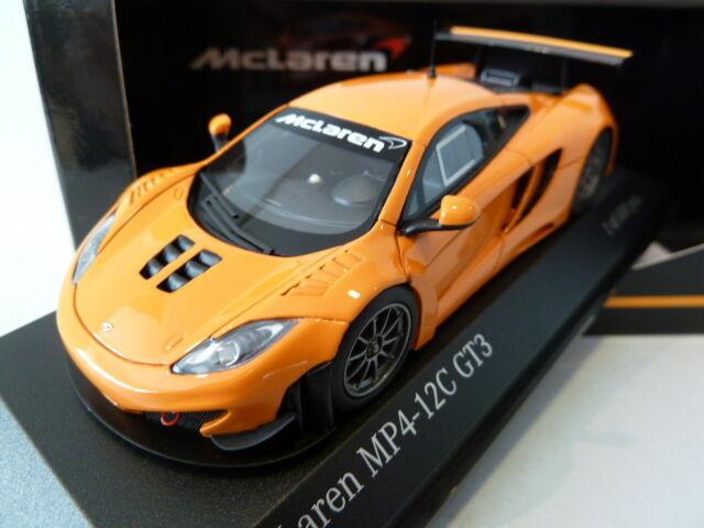 Rare 1 43 Minichamps McLaren MP4-12C GT3 Street 2012 arancia 437121399