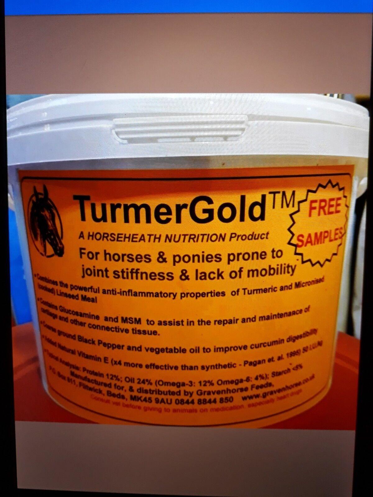 6 KG Turmer gold Turmeric Joint stiffness for Horses Glucosamine MSM Curcumin