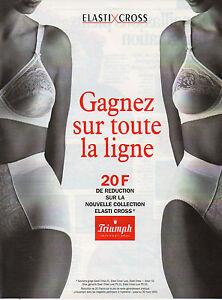 1f3580db45fd9 Détails sur Publicité Print AD 1995 Lingerie TRIUMPH ELASTI CROSS soutien  gorge slip