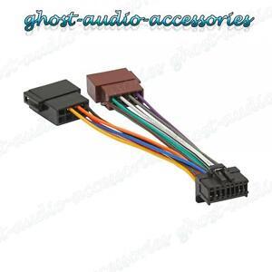 pioneer 16 pin iso wiring harness connector adaptor car stereo radio loom ebay