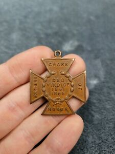 Civil War Southern Cross Of Honor UDC Daughters Of The Confederacy Bronze Medal